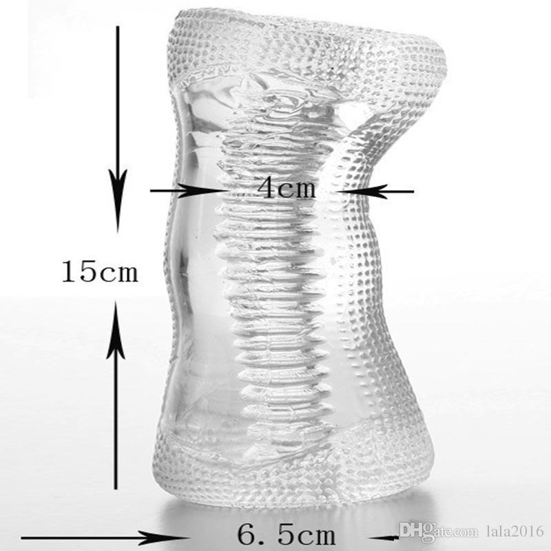 2020 New Transparent Silicone Male Masturbator 5 Type Penis Trainer Sex Products Pocket Pussy Stroker Stretchy Masturbation Cup Sex Toys