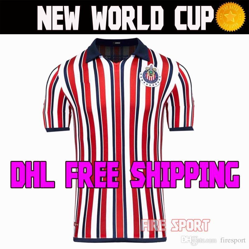 DHL Envío Gratis Chivas De Guadalajara Copa Mundial De Fútbol Camisetas  LIGA MX 2018 2019 Manga Larga 18 19 Hombres Niños Mujeres 110 Camisetas De  Fútbol ... dac7c115e3ff0