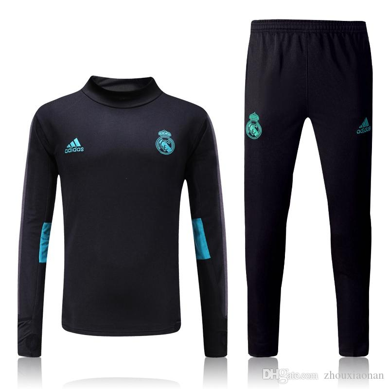 ab303734c39 Real Madrid 17 18 Bayern Soccer Tracksuit Chelsea Chandal Football ...