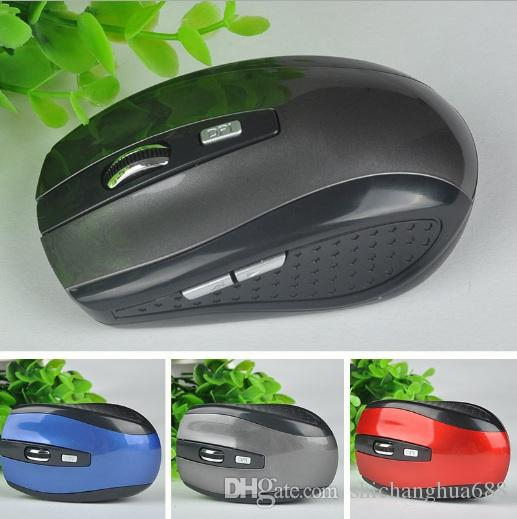 2.4GHz USB Optical Wireless Mouse USB Receiver mouse Smart Sleep Energy-Saving Mice for Computer Tablet PC Laptop Desktop With White Box