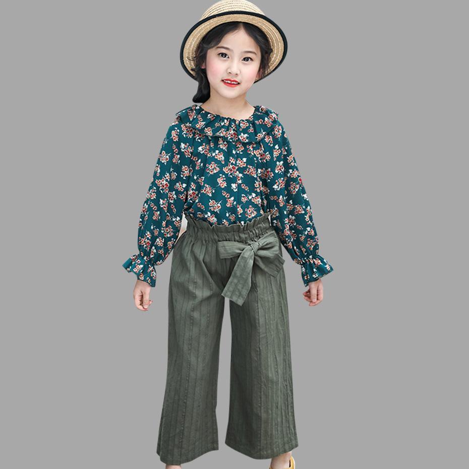 Acquista Abbigliamento Bambini Le Ragazze Estate Abbigliamento Bambini Top E  Pantaloni Ragazza Floreale 2 Pezzi Vestiti Ragazze Adolescenti 4 6 8 10 12  Anni ... 37351dfc8a6