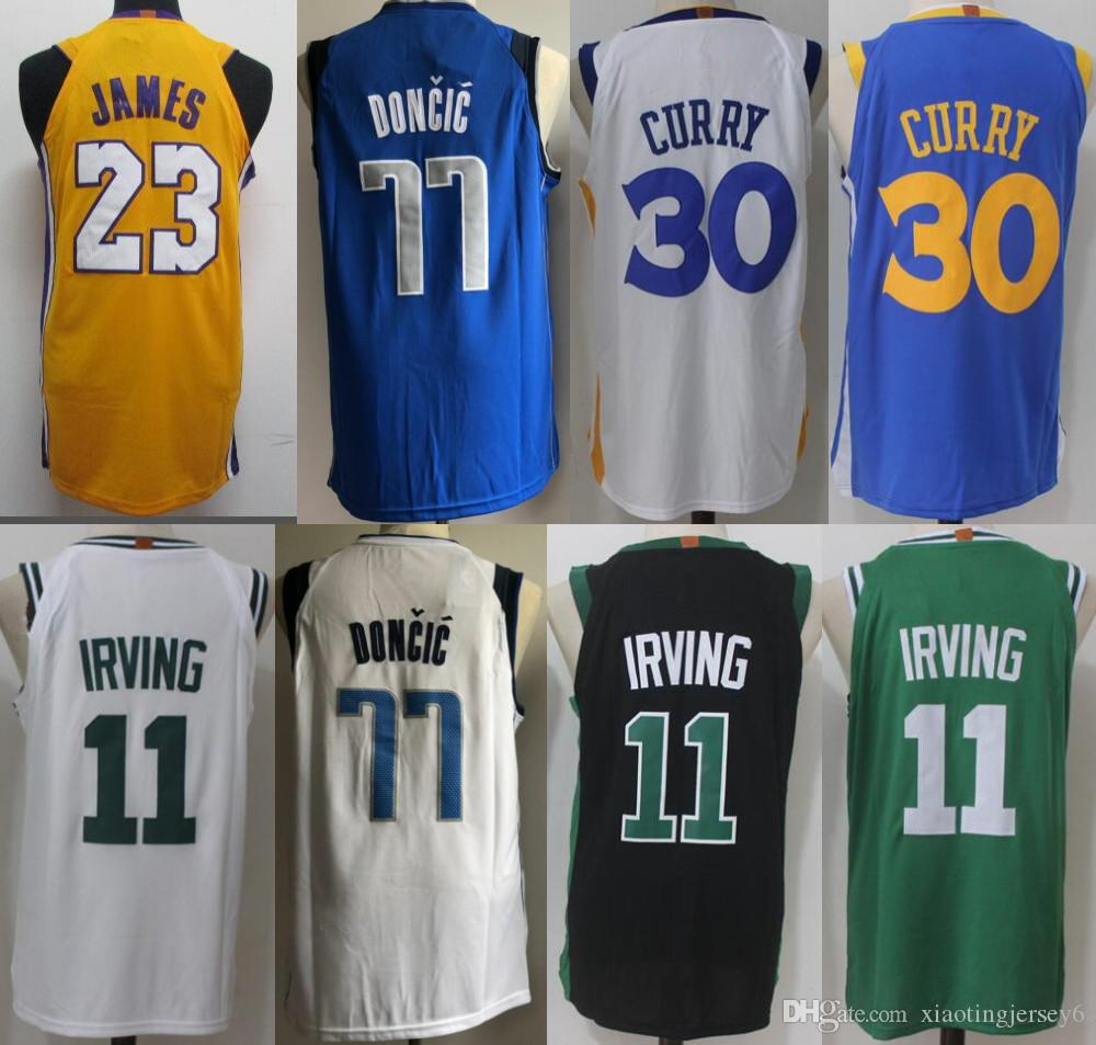 6546d65c2197 ... closeout men 2018 new season jerseys 11 kyrie irving 30 stephen curry  23 lebron james 77