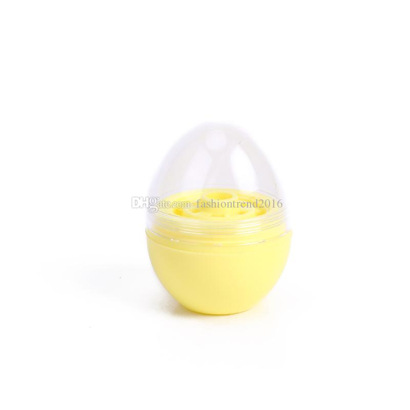 Egg Shape Empty Lip Balm Containers 2019 New Arrival Lipstick Ball Plastic Packaging Beauty Tool