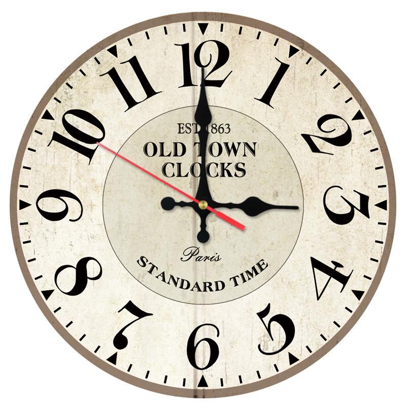 2017new Wall Clock Wooden Clocks Quartz Watch Home Decor Single Face
