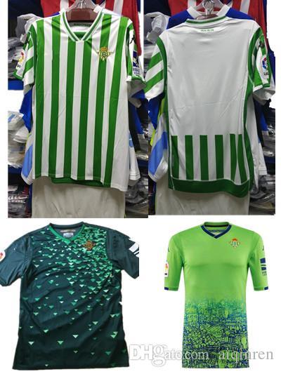 2018 2019 REAL BETIS Fútbol Jersey 18 19 Hogar Lejos JOAQUIN WILLIAM  BOUDEBOUZ C. TELLO A. GUARDADO HULIO 17 Camisetas De Fútbol De Calidad  Tailandesa Xxl ... a1282bc756ff2
