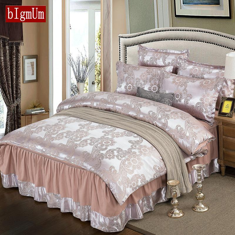 Luxury Embroidered Printing Soft Bedding Sets Bed Linings Duvet