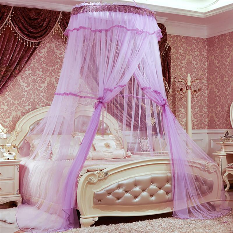 Großhandel Coxeer Romantische Hung Dome Moskitonetz Atmungsaktive Runde Prinzessin  Bett Baldachin Dome Purfle Moskitonetz Anti Inscute Moustiquaire Von ...