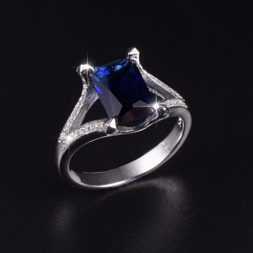 Compre Luxo 925 Streling Prata 10ct Quadrado Azul Safira Anéis De Noivado  Anel De Casamento Para Homens Wome Jóias Meninos Sz 8,9,10,11,12,13 De  Splendone, ... 80f7b3e636