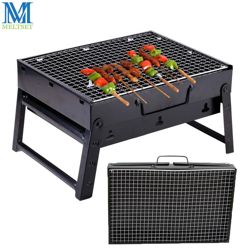 Great Outdoor Barbecue Grills Portable Folding Charcoal Grill For Picnic Black  Steel Collapsible Barbecue Oven Husehold BBQ Grill Folding Charcoal Grill  Barbecue ...