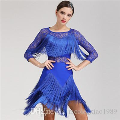 73358fac1 New Adult Latin Dance Dress Salsa Tango Cha Cha Ballroom Competition ...