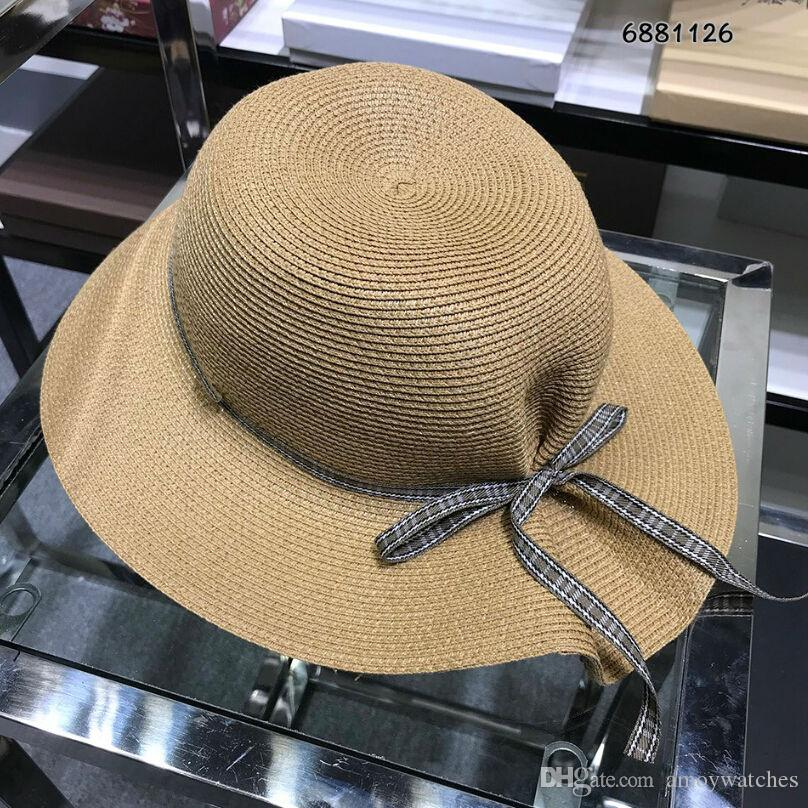52ce52e9ea31b Women Fashion Casual Hats Caps Straw Cc Luxury Design Brand Wide ...