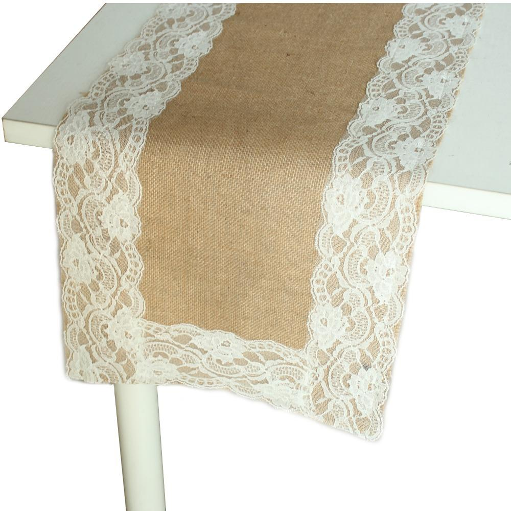 13x72 Vintage Jute Burlap Table Runner With White Lace Trim Wedding Party  Decorations Navy Table Runner Navy Table Runners From Shutie, $26.68|  Dhgate.Com