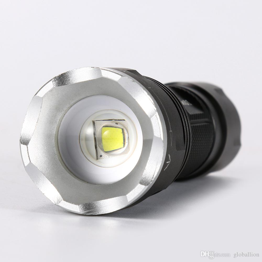 AloneFire X550 Mini Zoom Flashlight CREE XM-L2 Led Bulb Outdoor camping Torch Night Flashlight