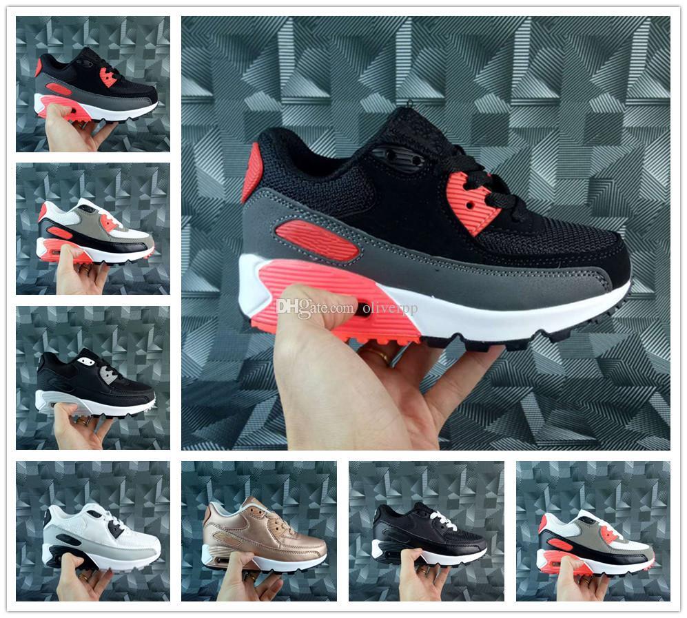 new product d7fd0 2e61b Compre Nike Air Max Airmax 90 Zapatos Atléticos Para Niños 90 II Zapatos  Para Correr Para Niños Negro Zapatillas Para Bebés Infantiles 90 Zapatos  Deportivos ...