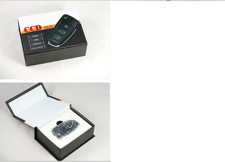 1080P IR للرؤية الليلية كاميرا مفتاح السيارة مع كشف الحركة كاملة HD مصغرة سلسلة المفاتيح DVR PC كاميرا فيديو مسجل S820 في مربع للبيع بالتجزئة