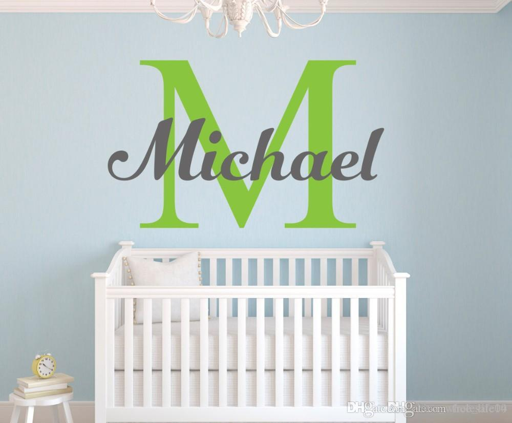 Yoyoyu Personalized Name Baby Nursery Room Wall Sticker Custom Name