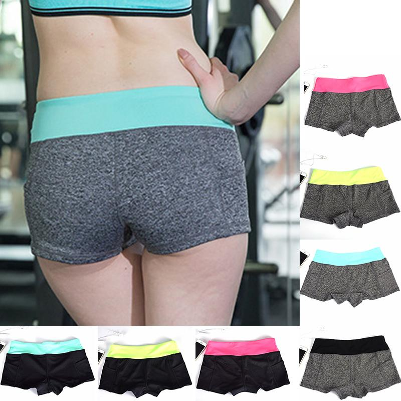 98c21d5880 Women Sports Fitness Yoga Shorts For Workout Run Slimming Beach ...