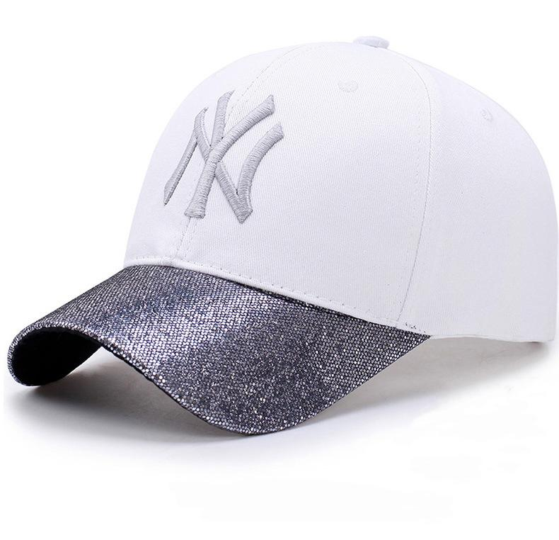 07d3da5961a 2018 Fashion Glitter Ponytail Cotton Baseball Cap Women Snapback Hat Summer Messy  Bun Mesh Hats Casual Adjustable Sport Caps Lids Cap From Gwyseller