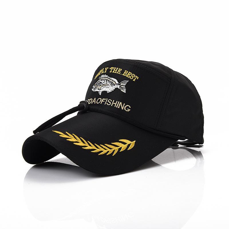 Nueva Moda Deportes Sombrero de Pesca Al Aire Libre Sombrero de Verano luz de sol Bordado Gorra Gorras de béisbol Ajustable Fisherman Snapback