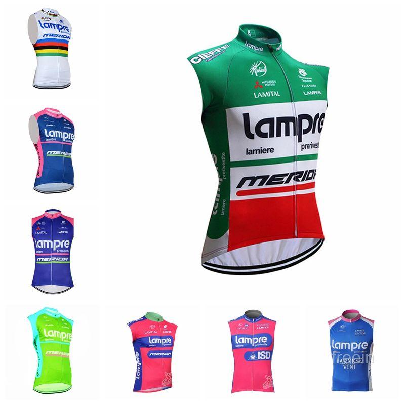 7826936b2 New! LAMPRE Team Cycling Sleeveless Jersey Vestcycling Jersey 2018 ...