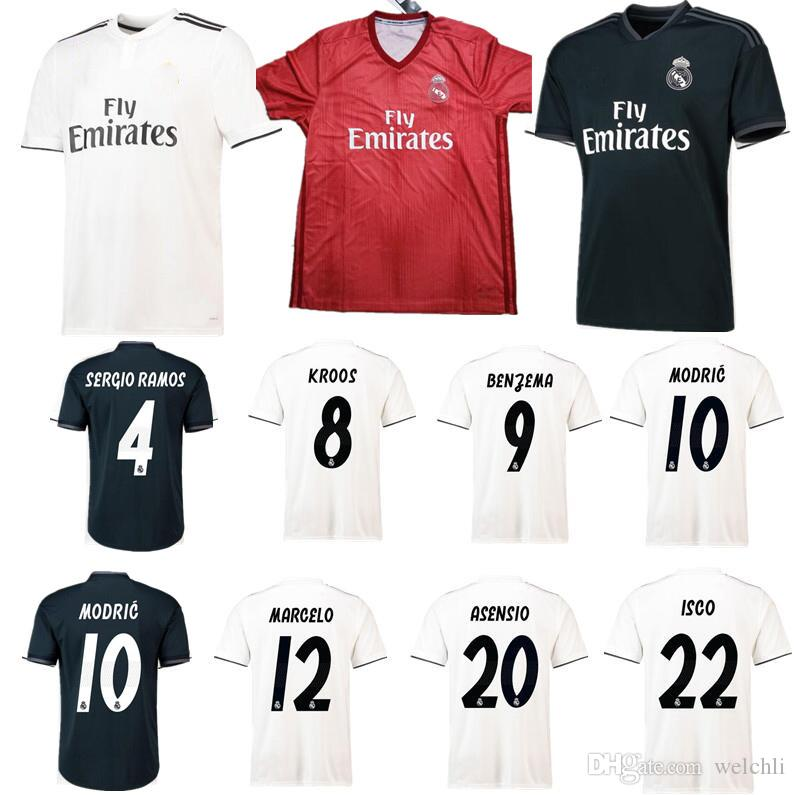 6279e1f9d ... authentic 2018 perfect 2019 jerseys real madrid 2019 soccer jersey home  away third aaa champions league