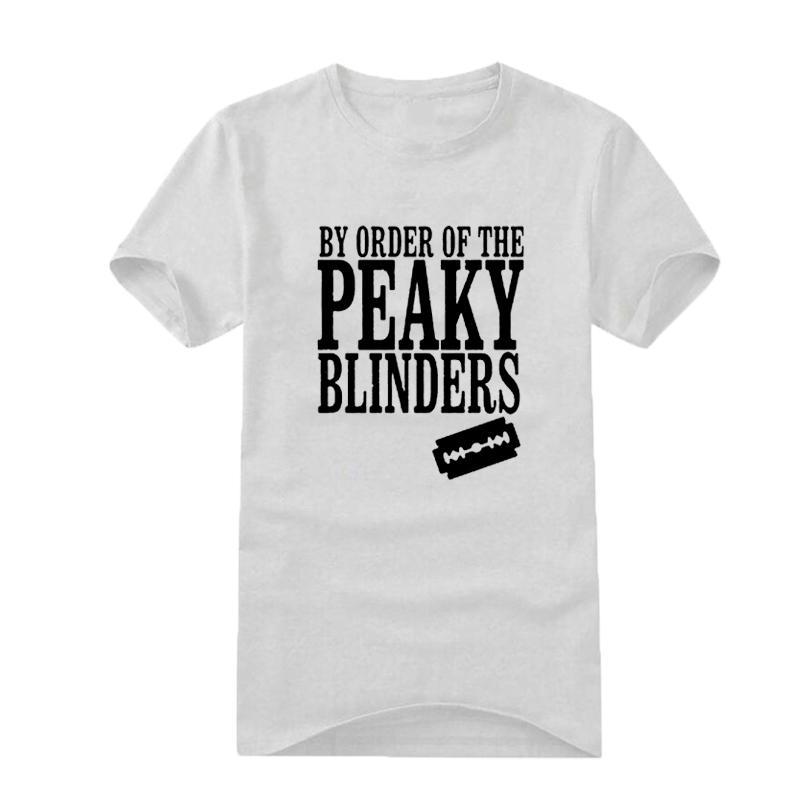 27a3f4c413b30 Compre Hipster Venta Al Por Mayor Descuento Camiseta Lema Divertido Por  Orden De Los Peaky Blinders Company Party Team Para Hombre Camisetas Moda  Hombre ...