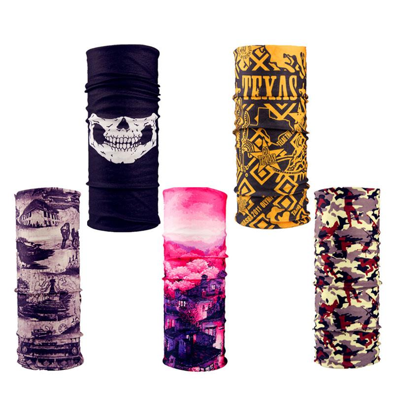 10pcs Seamless Magic Headband Skull Skeleton Bandana Army Tube Neck Warmer Face Mask Scarf Bicycle Sport Head Scarf Headwear