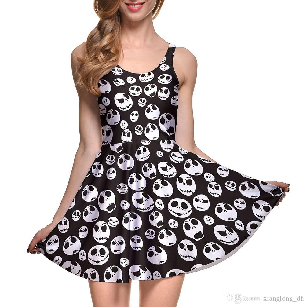 NEW 1087 Plus Size Summer Women Dress The Nightmare Before Christma ...