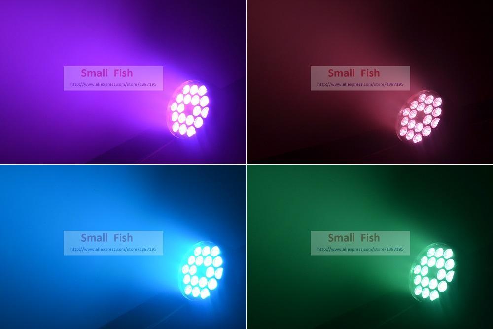 2018 LED Par Light 18x12 W RGBW 4IN1 luce della lavata di Lusso Controller DMX Led Flat Par64 Can Luci dj Constant Current Drive
