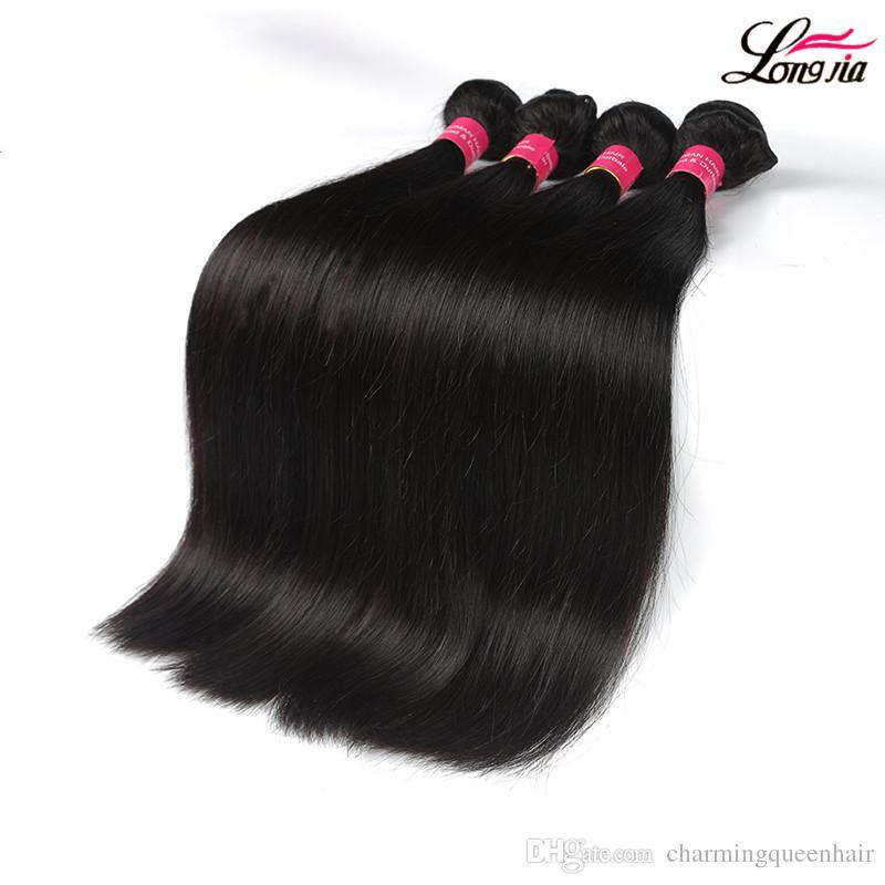 8a brasilianisches Glattes Haar mit 360 Spitze-Stirn Closure Menschliches Haar 3 Bündel Mit Closure Natural Color Günstige Pre Zupforchester 360 Lace Frontal