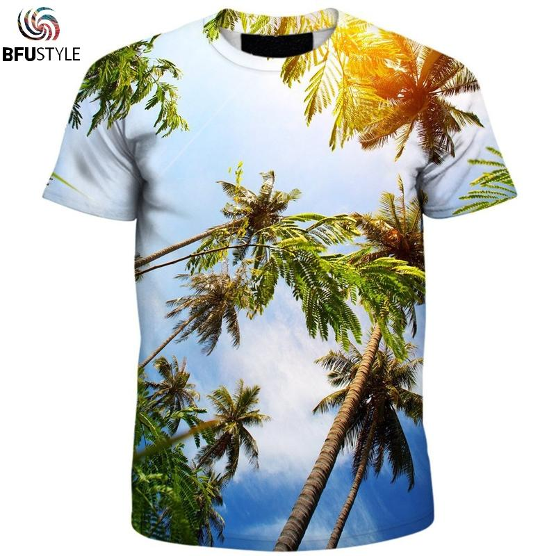 5e9c39824d8c Palm Trees Men s T Shirt 2018 New Fashion Men Women Short Sleeve O Neck Summer  Tops Tees Casual All Over Printed 3D T Shirt Shirts And T Shirts Buy Cool T  ...