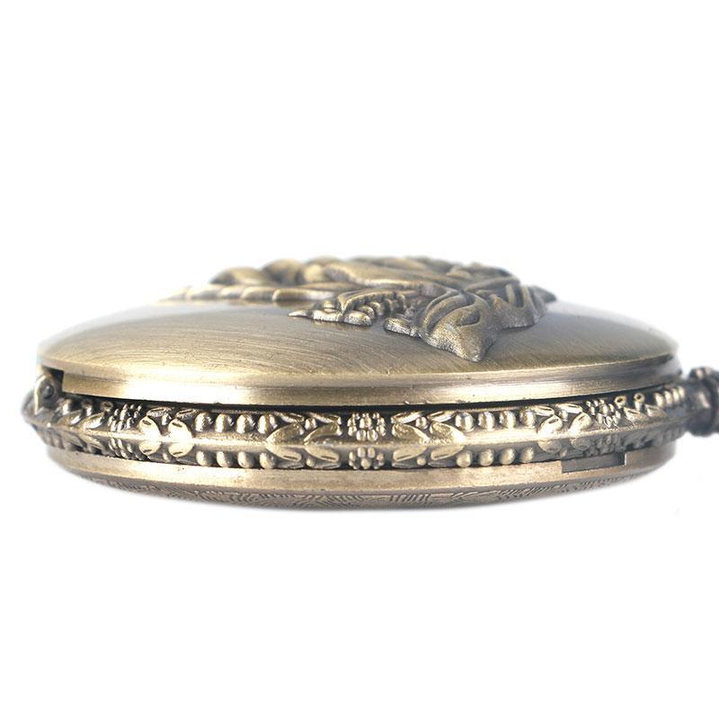 Antike Bronze Taschenuhr Game of Thrones Haus Strak Winter kommt Männer Frauen Fob Uhren Halskette Anhänger Geschenk