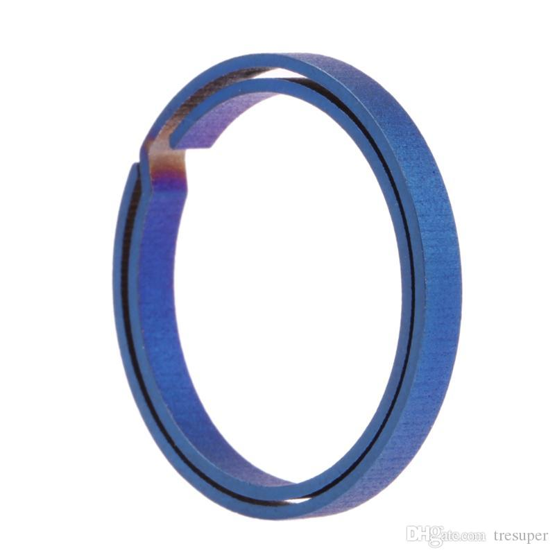 Blue Titanium EDC Portachiavi Puro Portachiavi Split Appeso Fibbia Portachiavi Cacciavite EDC Set Outdoor Portatile Mini Pocket Tool