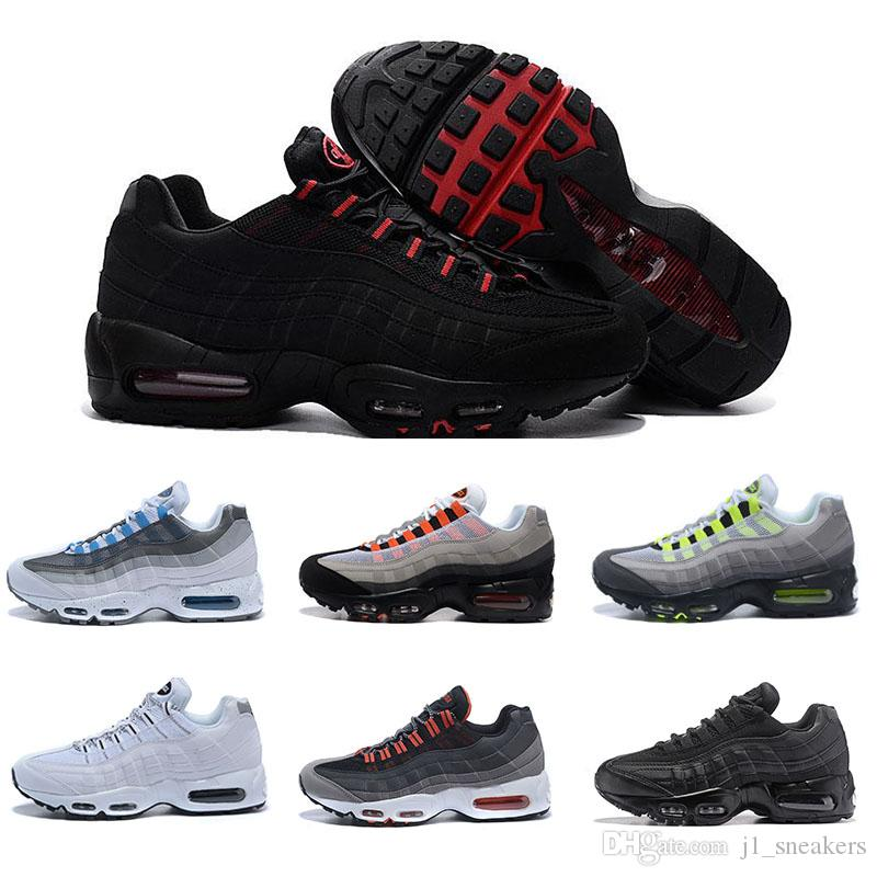premium selection 951c4 5b874 Acquista N08 1 Nike Air Max 95 Basketball shoes Drop Shipping Hight Quality Scarpe  Uomo Casual Bianche Uomini Bianche Nere Migliori Scarpe Da Tennis Da ...