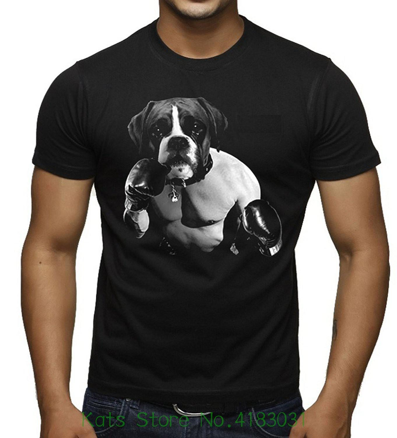 9348e6885a55 Men S Boxer Dog Boxer Black T Shirt Black New Arrival Male Tees Casual Boy T  Shirt Tops Discounts Political Tee Shirts Funny Political T Shirts From .