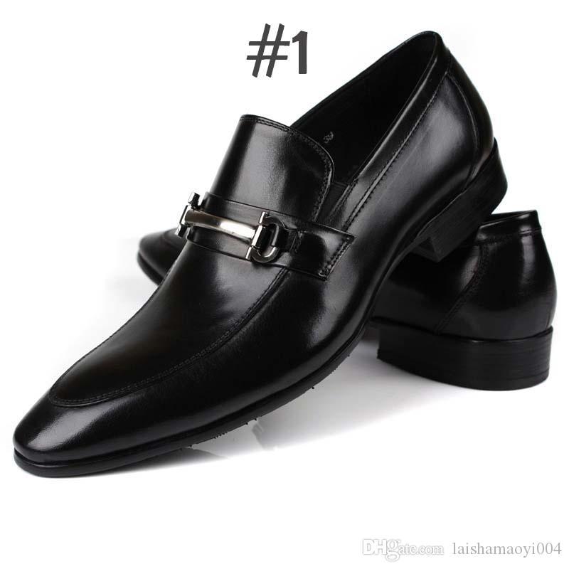 7a9d0e5c178 Acheter 2018 Homme Plat Classique Hommes Chaussures Habillées En Cuir  Véritable Wingtip Sculpté Italien Formelle Oxford Plus La Taille 38 48 Pour  L hiver De ...