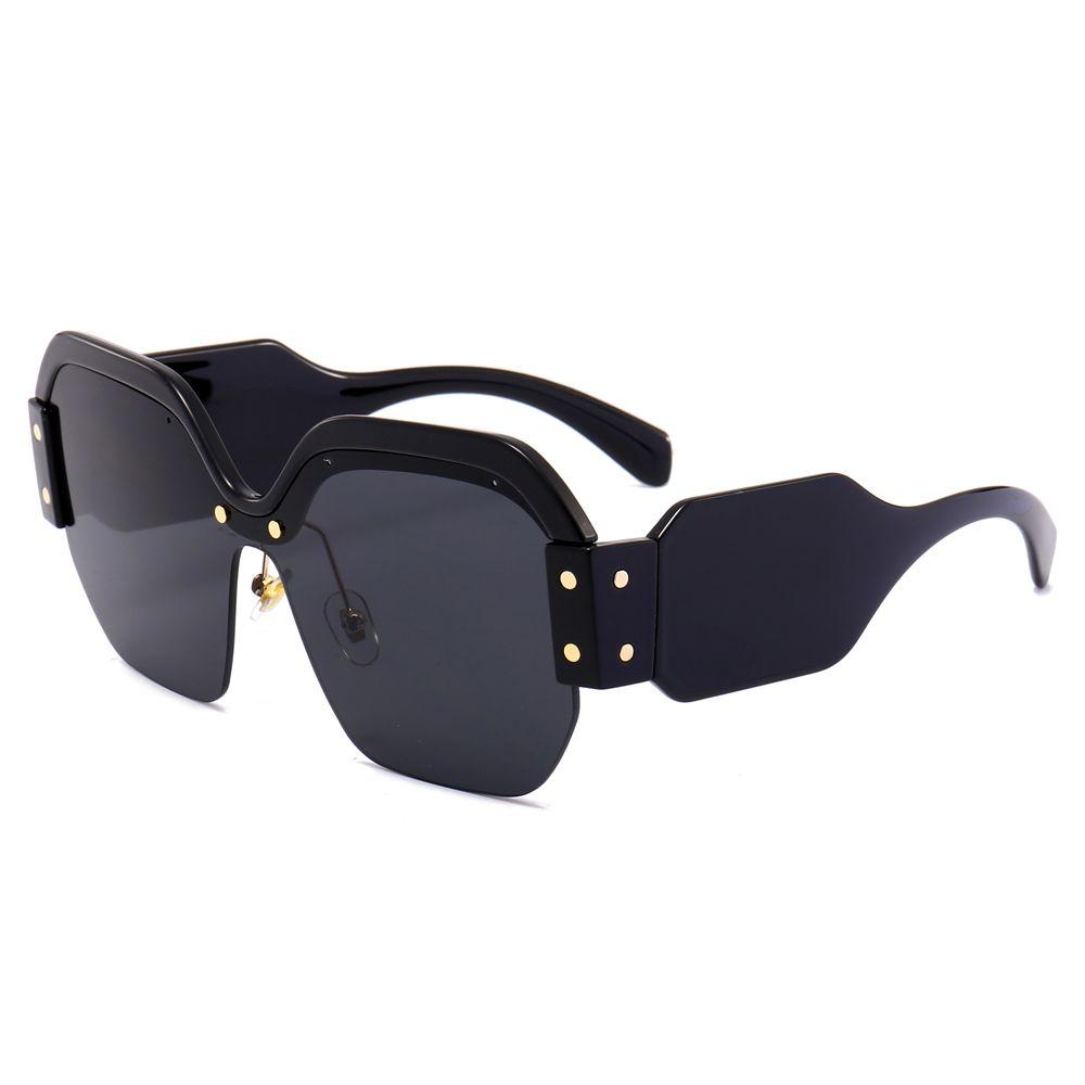 Großhandel Quadratische Halbe Rahmen Sonnenbrille Frauen Marke ...