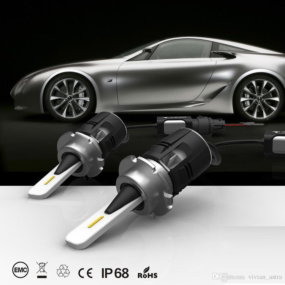 2 STÜCKE D1S D1R D2S D3S D3R D4S LED Scheinwerfer auto Slim Conversion Kit 48 Watt 7200LM CSP Chips All-in-One Weiß 6000 Karat Auto-Glühlampe