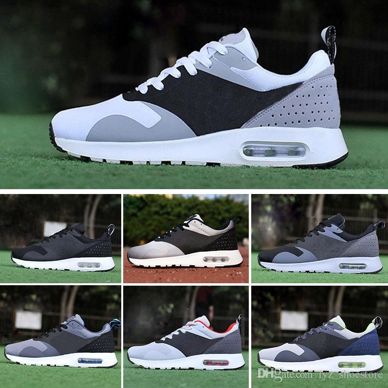 quality design 715e6 02997 Acheter 2017 Nike Air Max Airmax Print 87 Tavas 87 Thea 87 90 Tavas  Camouflage Hommes Casual Chaussures 100% D origine Tout Noir Thea Sport  Chaussures 2017 ...
