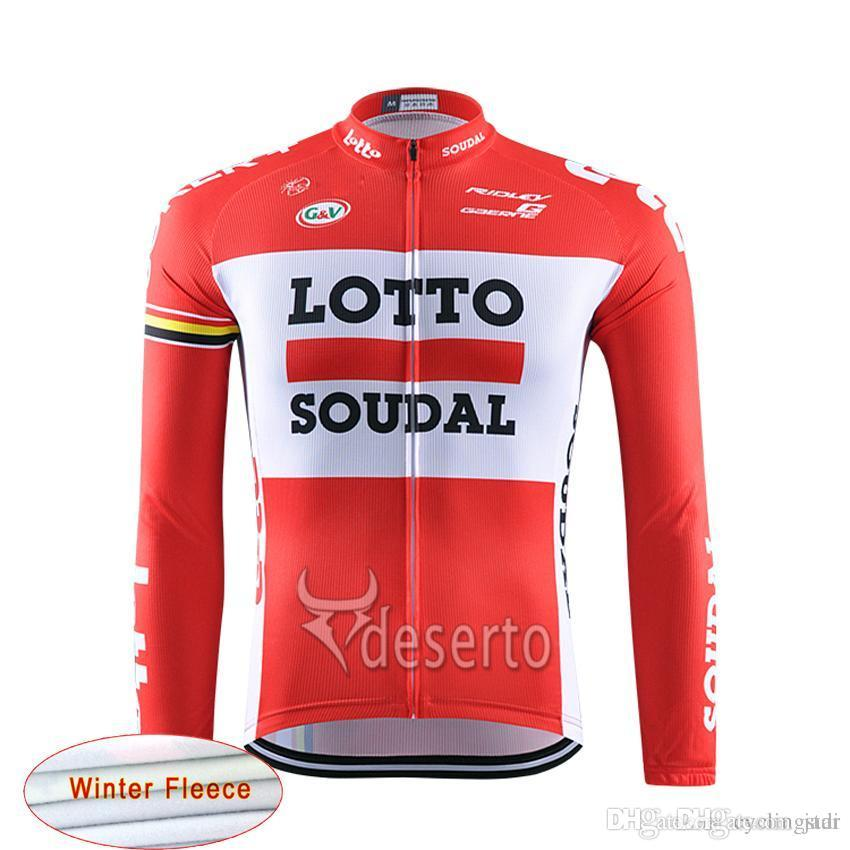 2017 Pro Team Lotto Men Warm Cycling Jersey Ropa Ciclismo Maillot ... f698b0212