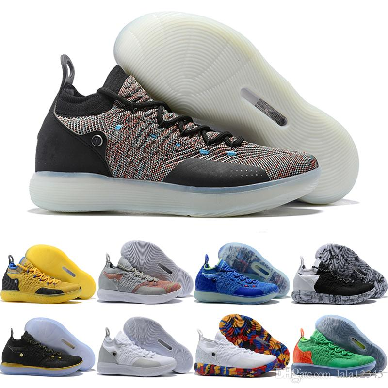 KD 11 XI Basketball Shoes Oreo Black Rainbow Rose Gold Classic Cheap Men  Kevin Durant 11s Trainers Weaving Sneakers Size 40 46 White Shoes Wedges  Shoes From ...