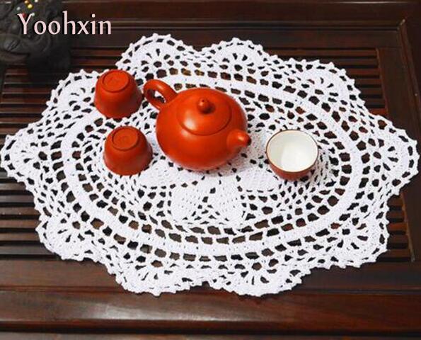 Großhandel Handgemachte Spitze Baumwolle Tisch Platz Matte Tuch