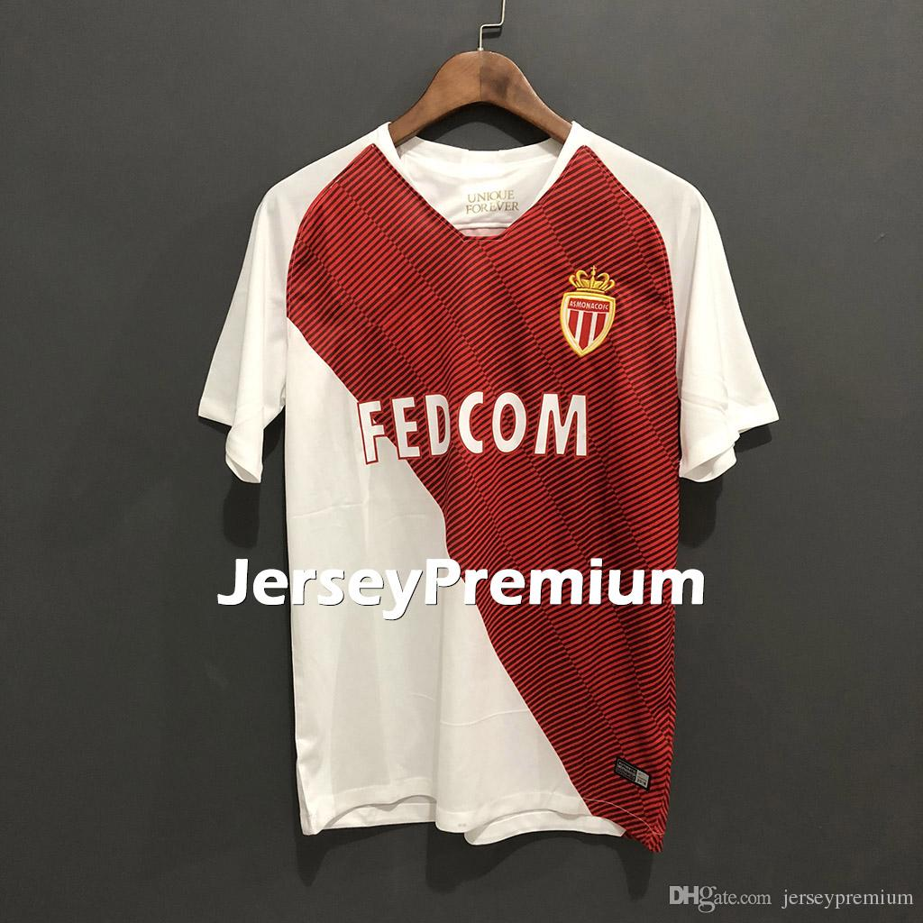 5aac36e3b 2019 AS Monaco Home Away Football Soccer Jerseys White Red Green Shirts  Baldé Lopes Golovin Sidibé Tielemans Glik Jovetic Falcao From  Jerseypremium