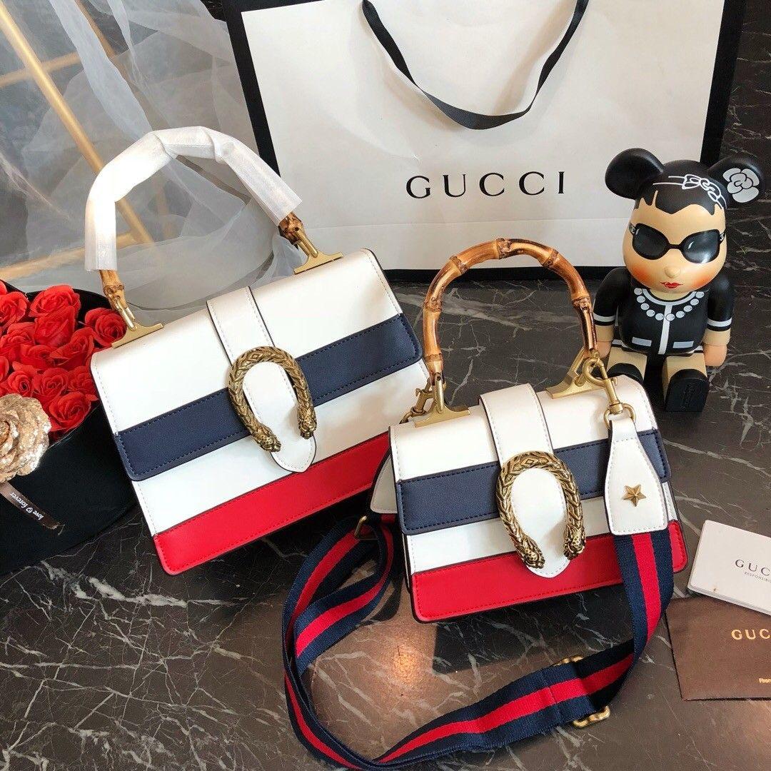 4ff4052223c Luxury Famous Brand Designer Handbags Handbag Navy Bamboo Sac À Main ...