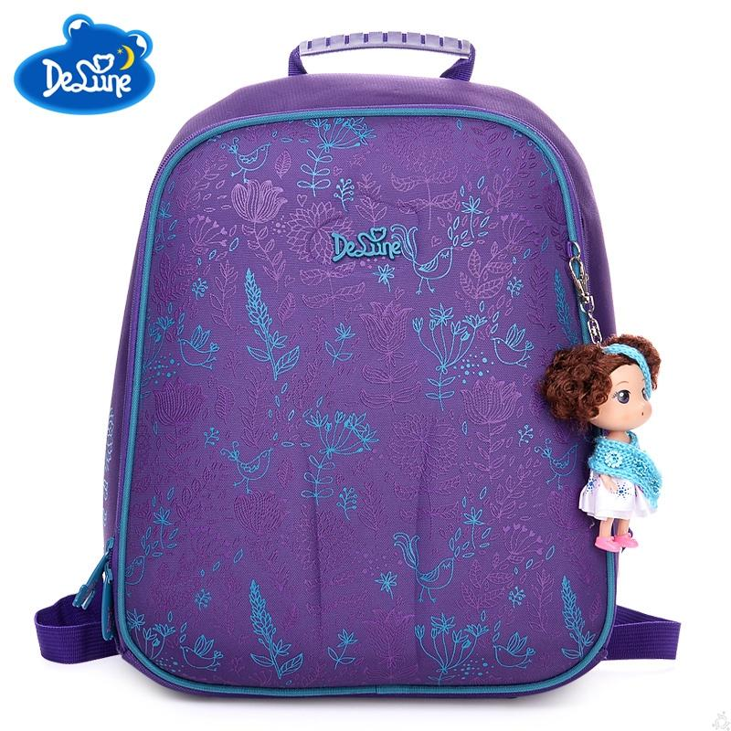Delune Sweet Princess Cartoon School Bag Flower Little Girls School  Backpacks Okul Light Orthopedic Purple Backpack For Children Wholesale Bags  School Bags ... 86589948bd0a6