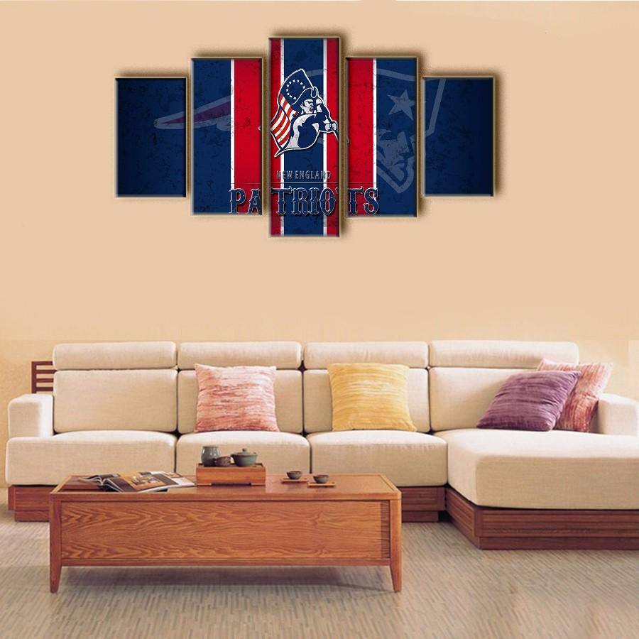 c30f9703 New York Giants New England Patriots Decorative Prints Unframed Sports  Poster Backdrop Wall Art Deco Oil Painting on Canvas