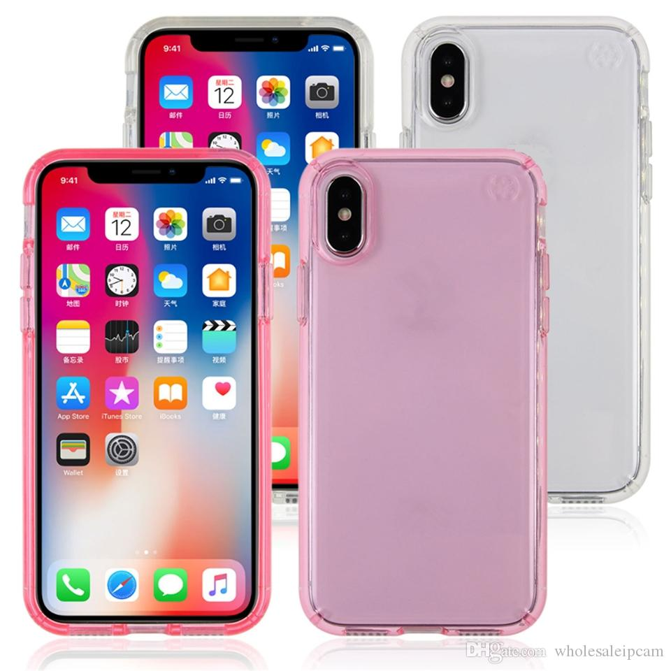 quality design c5046 998dd Presidio Clear Glitter Bling Case for iPhone X TPU Shockproof Case Nice  Cover With Gold Glitter For iPhone7/7Plus/8/8Plus In Retail Box