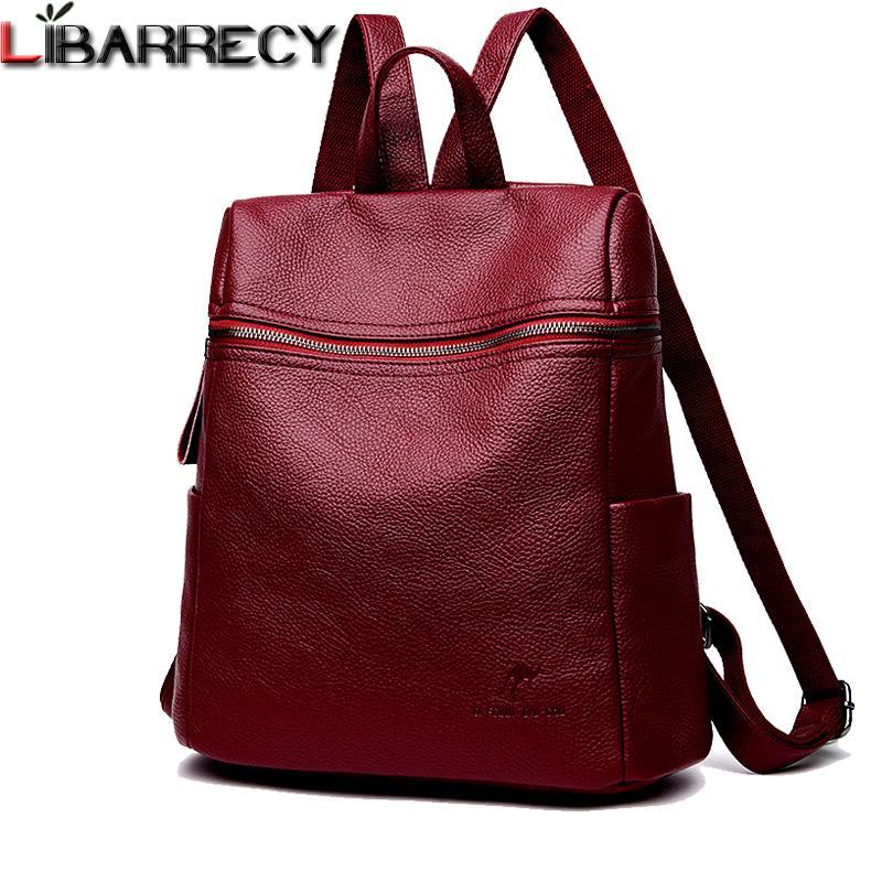 Fashion Backpack Female Brand Leather Backpack Women Large Capacity Bookbag  Simple Shoulder Bags For Women Mochilas Mujer 2018 Jansport Backpacks School  ... 749b5aa116319