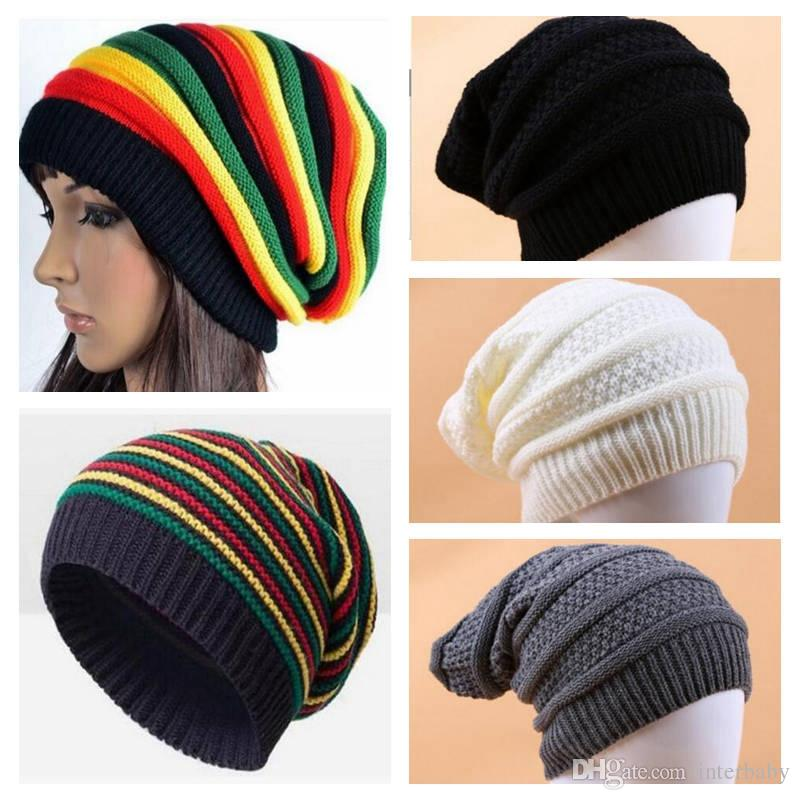 Mens Womens Ladies Girls Hats Unisex Stylish Adult Jamaican Hat With Hair ■