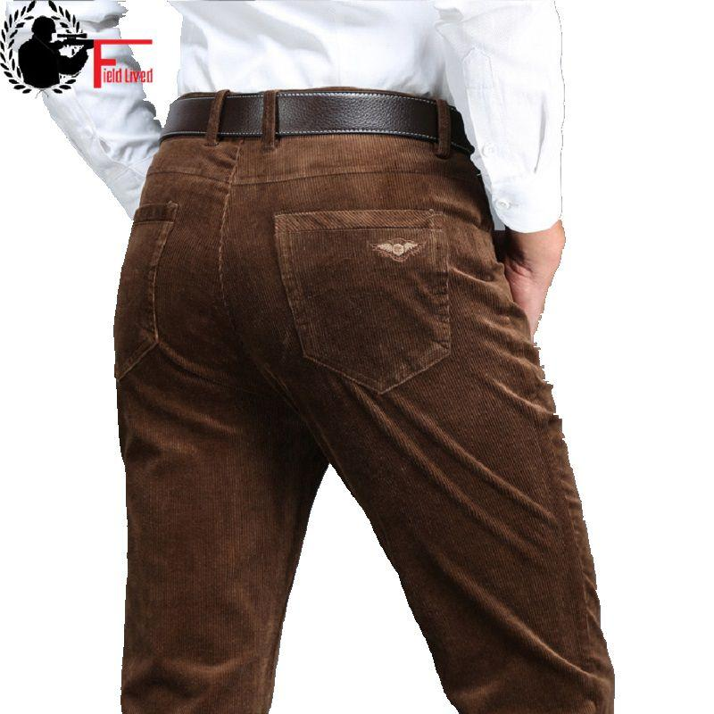 ebc4d7ca38d 2017 Winter Spring Men Thick Trousers Brand Red Blue Loose Elastic ...